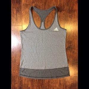 Adidas / Grey Polka Dot Tank Top